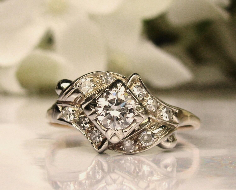 Reserved Vintage Engagement Ring By LadyRoseVintageJewel On Etsy