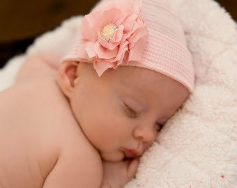 Newborn Hospital Hat Baby Girl Beanie Newborn Beenie Newborn Hat Baby Girl Hat Newborn Girl Hat Newborn Hospital Hat Newborn Photo Prop