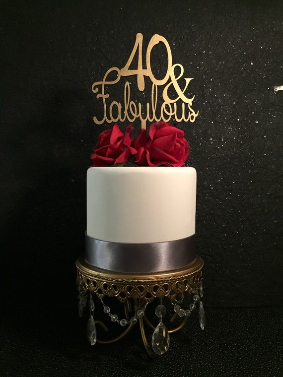 Fabulous Ideas Of Guest Master Bathroom Remodel For: 40 & Fabulous Cake Topper 40th Birthday By PSWeddingsandEvents