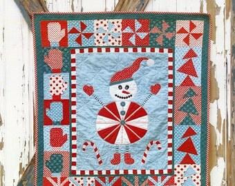 Snowman Quilt Pattern, Sebastion Snowman 193 Abbey Lane Lil'Munchkins, Snowman Wall Hanging, Christmas Decor, Winter Decor Pattern