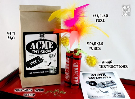 ACME TNT Catnip Cat Toy Sticks