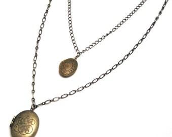 locket necklace, recycled locket necklace, brass locket necklace, upcycled locket necklace, lockets, recycled, vintage locket necklace