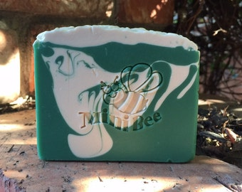 OH CHRISTMAS TREE Shea Butter Soap, Handmade Soap, Cold Process Soap, Moisturizing