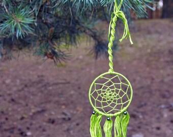 Nightmare catcher green handmade 7cm diameter