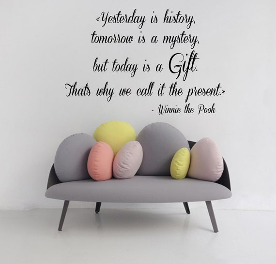Winnie The Pooh Wall Quotes: Winnie The Pooh Wall Decals Quotes Cartoon Words Children