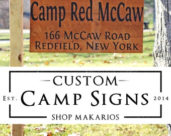 Camp Sign.Custom Camp Sign.Camper Sign.Custom Yard Sign.Custom Camper Sign.Custom Outdoor Sign.Hanging Sign.Busniess Sign.Home (Yard Sign)
