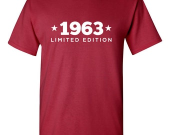 1963 Limited Edition Shirt 2018 Birthday 55th Birthday Turning 55 Born in 1963 Great Birthday Gift **Custom Name and Number** BD-414
