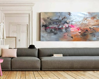 Original abstract acrylic painting, Giclee Print on Canvas, Modern Art Abstract Painting, Acrylic painting on Canvas, Modern art home decor