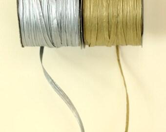 Paper Raffia Ribbon {gold or silver}