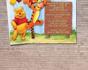 Winnie the Pooh and Tigger Party Invitation  Download Editable / Birthday Invitation / kids / children / For a boy / For a girl /  PRINTABLE