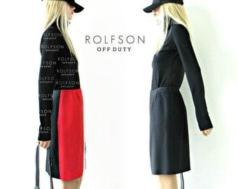 French Colorblock skirt  / Mini skirt / pleated skirt / Made in France / m /