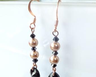 Earrings with Swarovski