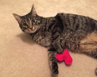 Heart Cat Toy – Organic Catnip Cat Toy - Love