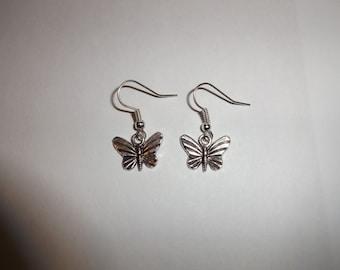 Silver Butterfly Earrings, Charm Earrings, Butterfly Jewellery