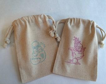Easter Treat Bag: Easter Chicks Drawstring Easter Favor Bags, Easter Chick Gift Bag
