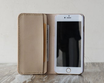 Personalized Leather IPhone 6 Case / iphone 6 wallet / women's or men's iPhone 6 wallet / iPhone 6 Plus Case Wallet / iphone Leather