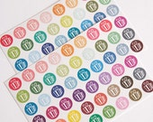48 matte birthday stickers, party sticker, life planner stickers, scrapbook reminder, birthday cupcake, birthday label