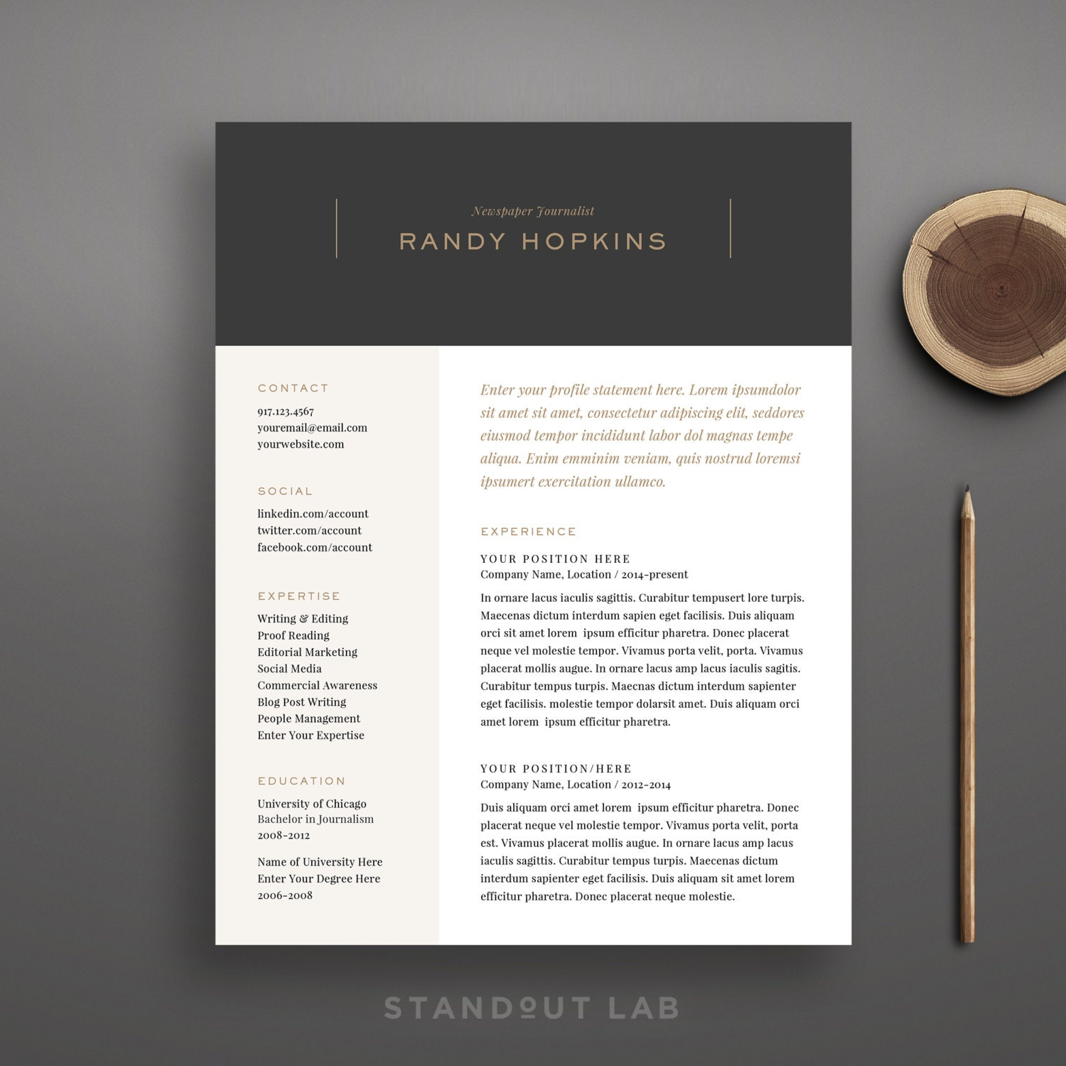 resume template and cover letter template professional design 🔎zoom
