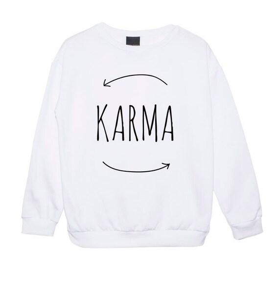 karma sweater jumper womens ladies girl funny fun by mlshopss. Black Bedroom Furniture Sets. Home Design Ideas