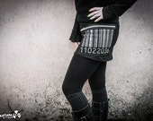 BARCODE - Black Mini Skirt with Pocket Industrial Cyberpunk Edgy