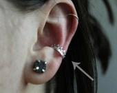 Sterling silver ear cuff - crown ear cuff - princess ear cuff - queen ear cuff - dainty ear cuff -  no piercing needed