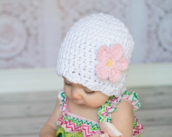 9 Sizes White Sparkle Hat Baby Hat Baby Girl Hat Toddler Hat Toddler Girl Hat Womens Hat White Hat White Beanie 30 Flower Colors Flapper