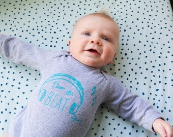 Baby Long Sleeve Onesie - Drop the Beat, Ready to Ship