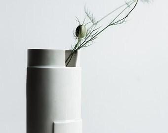 Hand Built Porcelain Slab Vase - Tiered Collection