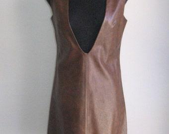 60s vtg vinyl dress