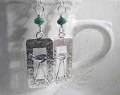 Kingman turquoise earrings . SHOREBIRD . sterling silver bird earrings . beach earrings . teal green earrings . long legs . hospice charity