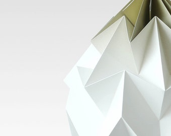 NEW: XL Moth origami lampshade gradient gold
