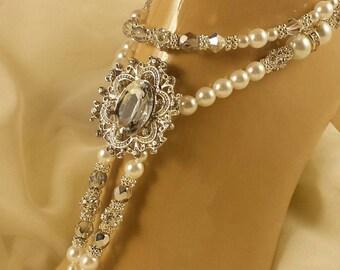 Rhinestone Wedding Jewelry Pearl Swarovski Wedding Jewelry Bridal Anklet Wedding Anklet