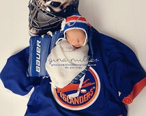 BABY GIRL HOCKEY Hat Helmet Royal Blue, Orange and White Flower Also Available in other team colors Size Newborn. 0-3, 3 mos
