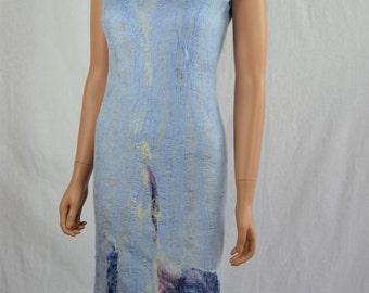 beautiful dress  of silk felted