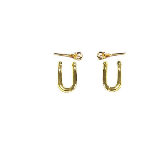 earring 14k gold shackle gift shackle by nautigold