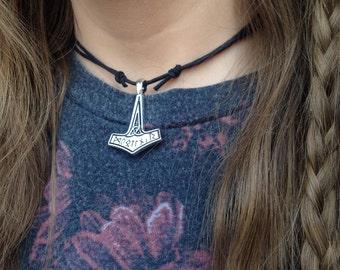 Viking necklace viking Choker - thor necklace - boho choker - bohemian choker - thors hammer necklace - thor choker - vikings necklace