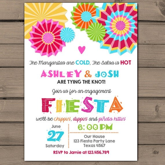 engagement party invitation fiesta engagement party invite, Party invitations