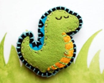 Felt Fridge Magnet (Dino)