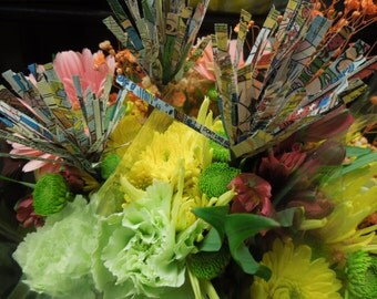 Comic Book Flowers - Centerpiece or Bouquet Accent