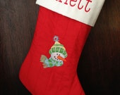 Quilted Christmas Stocking - Custom Order for Heather