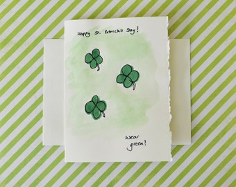 St. Patrick's Day Card: Funny St Patrick's Day Card - Saint Patrick's Handmade Greeting Card - Card for Girlfriend Boyfriend Wife Husband