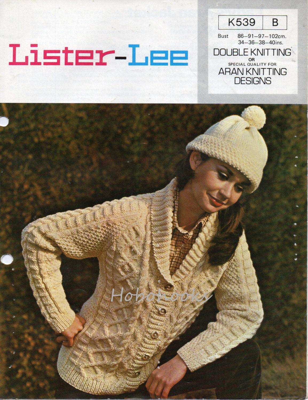 Ladies aran shawl collar cardigan aran jacket aran cardigan zoom bankloansurffo Choice Image