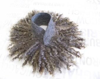 eco, naturally, woolen, felt.Love,fashion,Beautiful,Gift,Handmade,Scarf.Women's scarf. Scarf felt. Unique scarf.Accessory.Scarf - Neckpiece