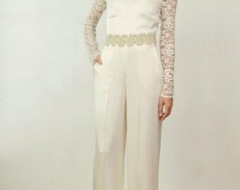 Juliet Silk Bridal Jumpsuit