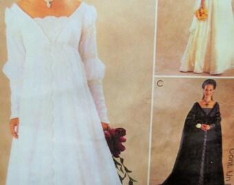 McCall's 3053 Sewing Pattern, Wedding Dress Pattern, Bridal Gown, Renaissance, Ren Fair, Empire Waist, Alicyn, Long Dress, Bust 32.5 - 36