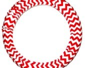 Steering Wheel Cover Red Chevron-Cute Car Accessory-Car Accessory for Women-Chevron Steer Wheel Cover