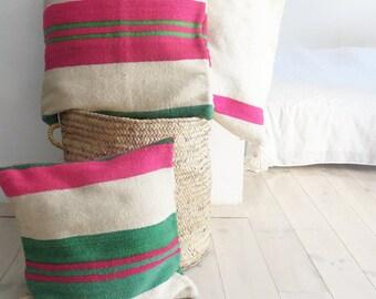 Small Moroccan Kilim pillow cover - Stripes