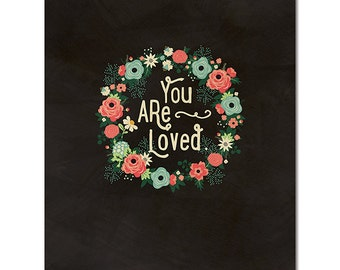 "SALE! 8"" x 10"" Cardstock Print - You Are Loved from Fancy Pants"