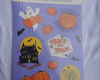 Vintage American Greetings Cards Halloween Stickers Ghost Spider