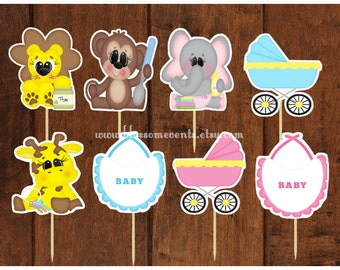 Baby Animals Cupcake Toppers (12)